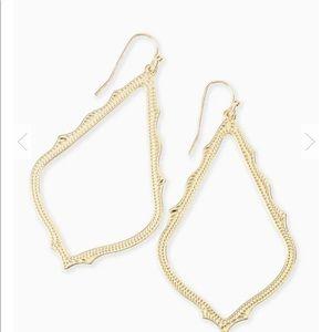 Kendra Scott gold drop earrings Sophee